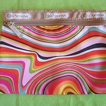 Lesportsac Bright Colorful Rare Psychedelic Swirl Make Up Cosmetic Bag Pouch Htf Photo