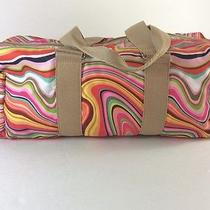 Lesportsac Bright Colorful Rare Psychedelic Swirl Satchel Duffle Bag Purse Htf Photo