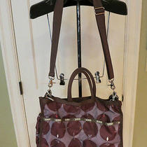 Lesportsac Brown & Plum Crossbody Diaper Bag W/changing Pad Photo