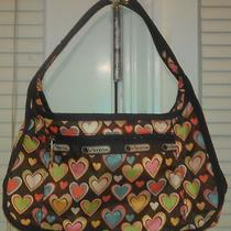 Lesportsac Brown Purse With Hearts Photo