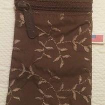 Lesportsac Brown Unique Shape Rare Makeup Pouch Bag Photo