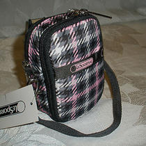 Lesportsac Check It Out Paula Phone Camera Wallet Small Carryall Case 7907 Nwt Photo