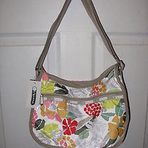 Lesportsac Classic Hobo 7520 Purse Bag Floral White Jardin Photo