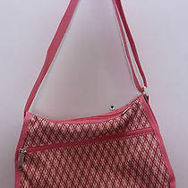 Lesportsac Classic Hobo Bag Retired Pink Geometric Print Purse Bag Photo