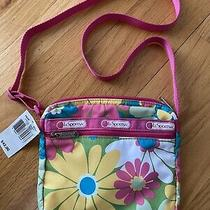 Lesportsac Crossbody New W Tag Girls  Purse Bag Pink Blue Yellow Green Floral Photo