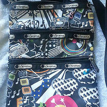 Lesportsac Crossbody Purse Bag Hip Hop Music Boom Box Retro Fun Bright Colors Photo