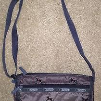 Lesportsac Crossbody Shoulder Bag Gray With Rocking Horse Photo