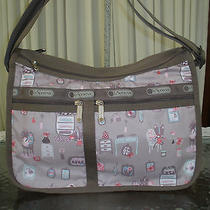 Lesportsac Deluxe Everyday Bag Powder Room Cats Crossbody Shoulder Handbag Nwt Photo