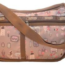 Lesportsac Deluxe Everyday Bag Powder Room Cats Kittens Crossbody Shoulder Pink Photo
