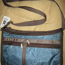 Lesportsac Deluxe Everyday Crossbody Bag Blue Denim Faded Top Zip New Nwt Photo