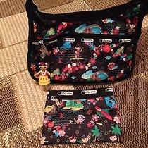 Lesportsac Disney Small World Polynesian Paradise Handbag &wallet Beautiful Photo
