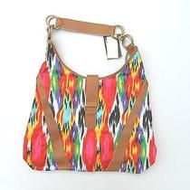 Lesportsac Drum & Base Large Tote - Bright Colorful Pattern - Discontinued Style Photo