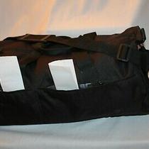Lesportsac Duffle/messenger Bag Black Nylon Canvas Hard Plastic Hardware Fflrmid Photo