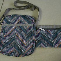 Lesportsac Edna Multi Color Dot Messager Crossbody Bag Purse Photo