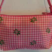 Lesportsac Embroider Green Turtles Pink Check Hand Bag New With Tags Photo