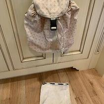 Lesportsac Everyday Backpack Basketweave Tan Cream Light Color Pre-Owned Photo