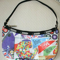 Lesportsac Game Print Chance Sequin Small Hobo Handbag Nwot Photo