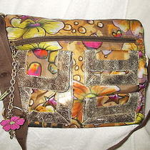 Lesportsac Graffiti Leather Trim Cross Body Bag/handbag W/lesportsac Bracelet Photo