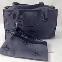 Lesportsac Gray Rocking Horse Small Double Handled Tote Bag New Photo