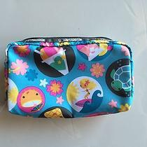 Lesportsac Hawaii Exclusive Rectangular Cosmetic Makeup Bag  Fun in the Sun Nwt  Photo