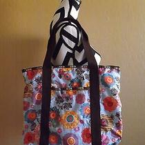 Lesportsac Janis Tote Bag Purse Shopper Pop Floral Mod Print Medium Size  Photo