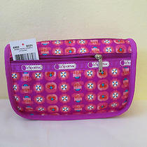 Lesportsac Large Travel Cosmetic Case Nwt Little Geo Photo