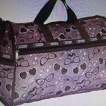 Lesportsac Large Weekender Dolce Vita Duffel Bag Bnwt Cool Print Photo