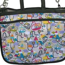 Lesportsac Liz Gondola Diaper Tote Bag With Changing Pad Nwt Rare Gondola Print Photo