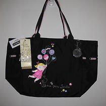 Lesportsac Mary's Tote Picture Tote With Cha Nwt 2376 Disney Its a Small World Photo