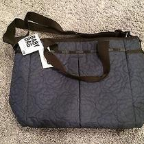 Lesportsac Navy Mirage Poof Embroidery 7532 Ryan Large Baby Bag Tote  Photo