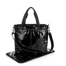 Lesportsac Nwt 158 Ryan Diaper Bag in Black Shine Photo