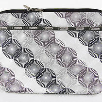Lesportsac Off White Pinwheel Pattern Laptop Computer Sleeve Carrying Case Euc Photo