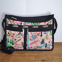 Lesportsac Paris France Print Deluxe Everyday Bag / Purse Photo