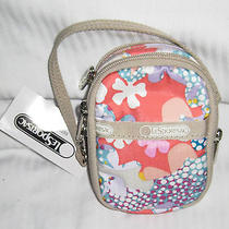 Lesportsac Paula Camera Case Wallet Paula Confetti Flower 7907 D205 New Photo