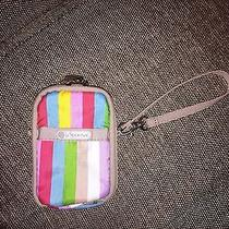 Lesportsac Paula Iphone Cell Phone Camera Wristlet in Rainbow Stripes Photo