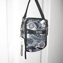 Lesportsac Paula Rose N Bows Wristlet Camera Ipod Phone Case Grey Front W Black  Photo
