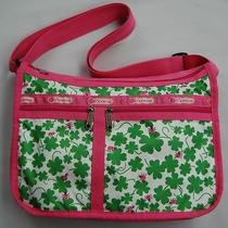 Lesportsac Pink & Green Clover Lady Bug Crossbody Handbag Women's Purse Bag Photo