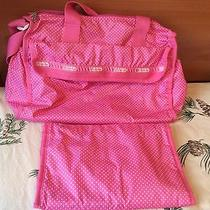 Lesportsac Pink / White Dot Diaper Bag Photo