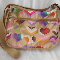 Lesportsac Purse W/ Hearts on It   Euc  Photo