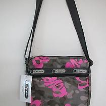 Lesportsac Shellie Crossbody Handbag Modern Love Print Nwt Lightweight Bag Photo