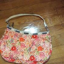 Lesportsac Small Shoulder Bag Flowers Orange Pink Multi  Photo