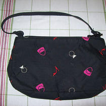 Lesportsac Small Shoulder Bag Mini Hobo Purse Black W/ Heels Rings Fashion Usa Photo