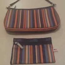 Lesportsac Striped Purse and Matching Coin Purse Beautiful and Fun Style Photo