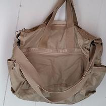 Lesportsac Tan Beige Nylon Tote Bag Photo