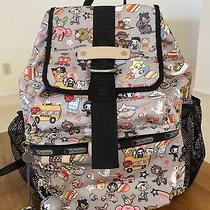 Lesportsac Tokidoki Trasporto Scoula Sandy Porcini Backpack Bag With Qee Photo