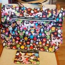Lesportsac Tokidoki Travel Tote Bag (New Without Tag) W Qee & Matching Pouch  Photo