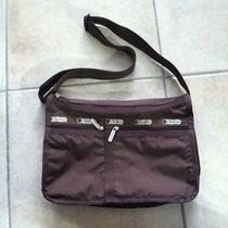Lesportsac Trendy Classic Hobo Crossbody Purse in Coffee Color Multi-Pockets Photo