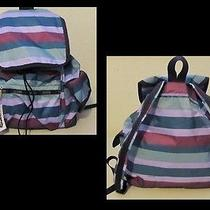 Lesportsac Voyager Backpack Purse New Aberdeen Striped Design  Gorgeous Colors Photo