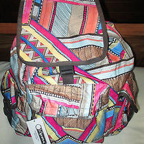 Lesportsac Women Large Voyager Backpack Desert Highway Patchwork Nwt New Photo