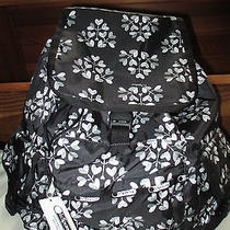 Lesportsac Women Large Voyager Backpack Love Blossom Black White Hearts Nwt New Photo